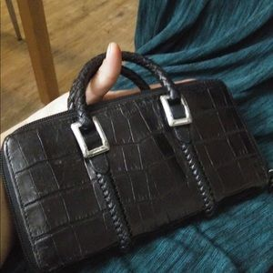 Zip up Brighton wallet with handles